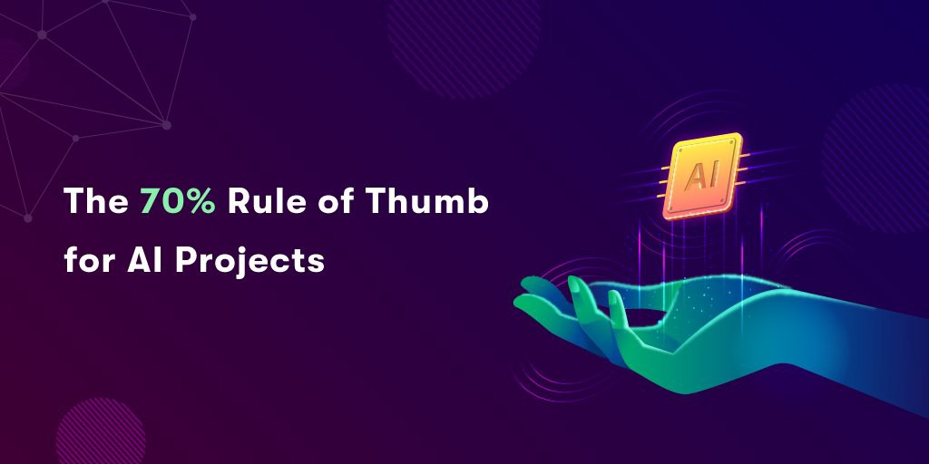 The 70% Rule of Thumb for AI Projects