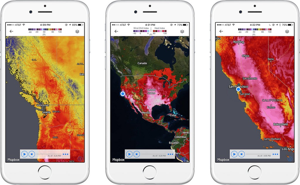 Mapbox now powers The Weather Channel App on iOS  Points of interest