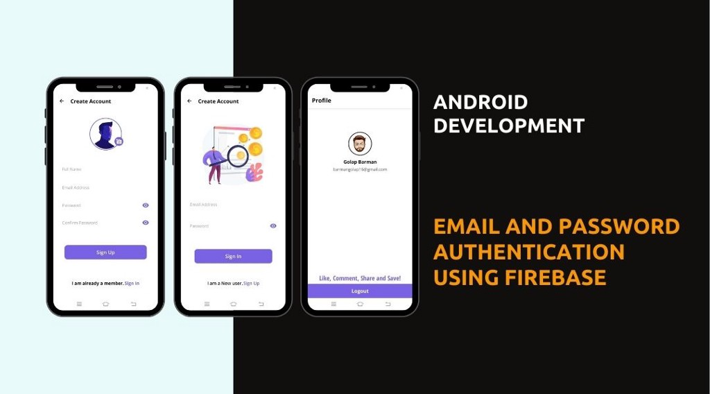 Email and Password Authentication Using Firebase in Android Studio   Java