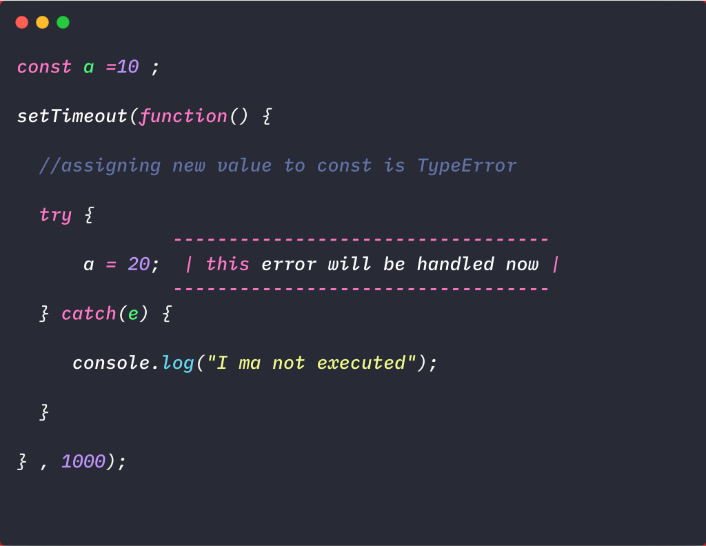 JavaScript — Errors and Exception Handling
