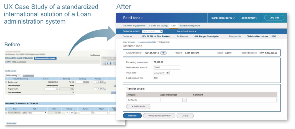 Core banking systema UX case study