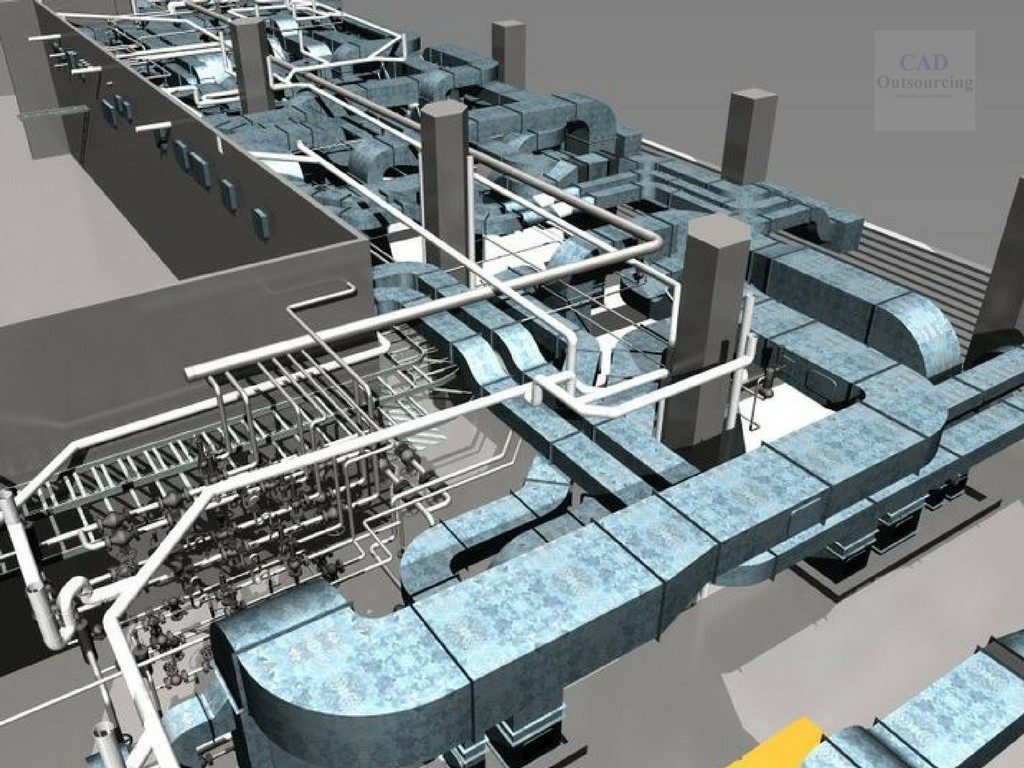 hvac commercial engineering projects cad outsourcing