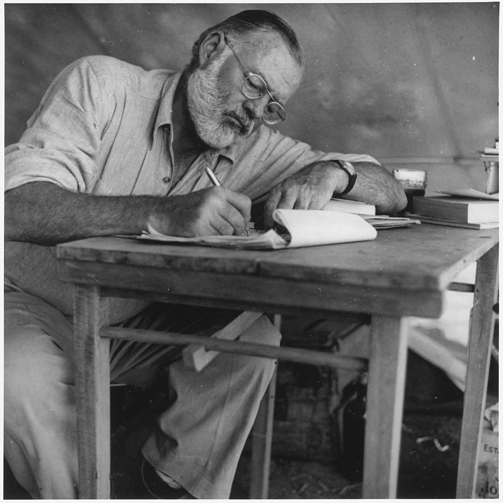 Ernest Hemingway Credit Wikipedia Commons
