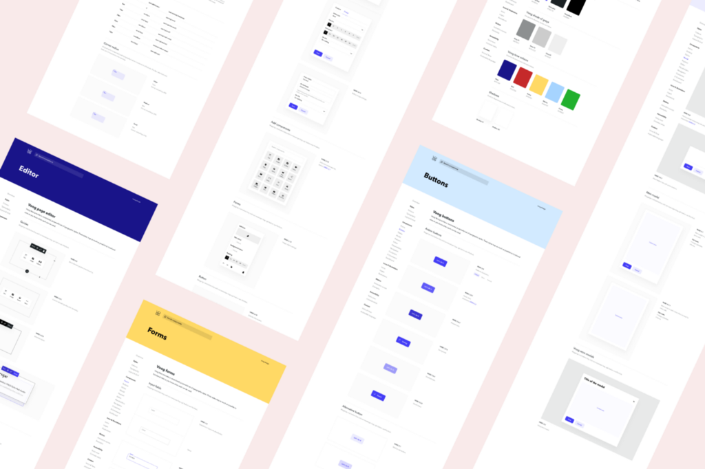 Sneak-peak of Voog's design system. Scroll down to find out how to access the files in Figma.