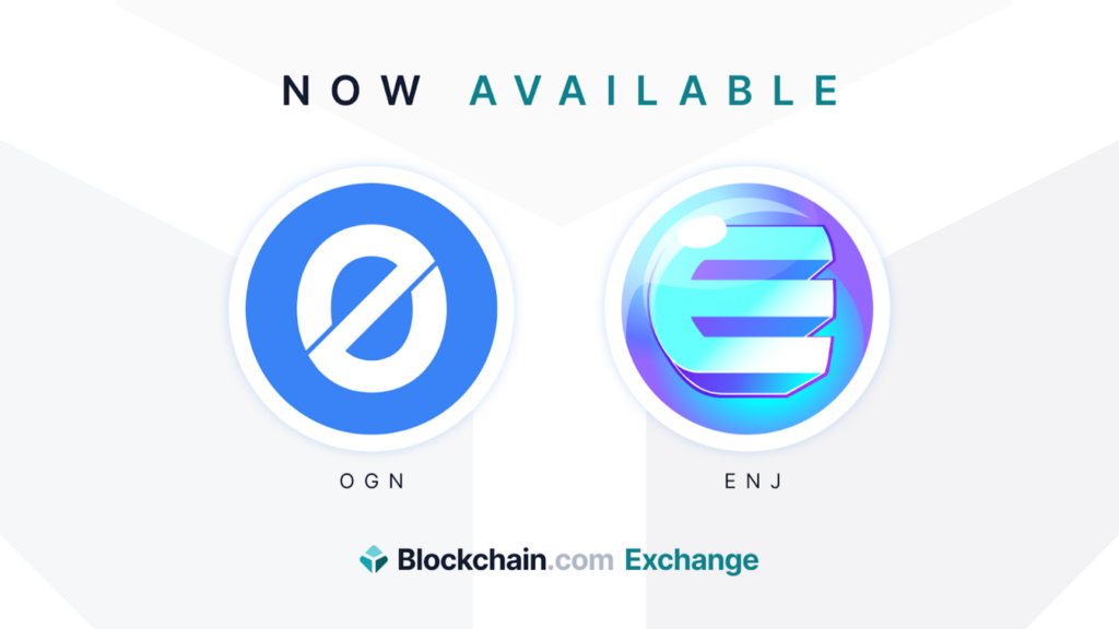 Origin (OGN) and Enjin Coin (ENJ) now available on the Blockchain.com Exchange