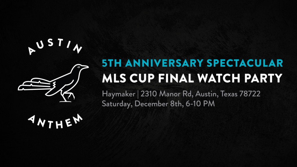 5th Anniversary SG Spectacular, Holiday Supporter, & 2018 MLS Cup Watch Party: December 8th.