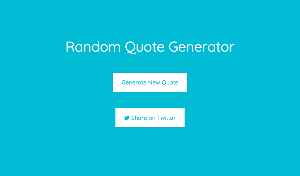 Random Quote Generator Fascinating Create A Random Quote Generator  Decoderhub  Medium