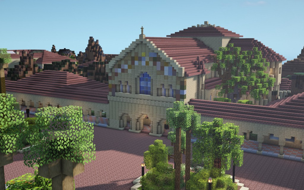 Every brick, every tree: How the Stanford campus is being rebuilt in Minecraft
