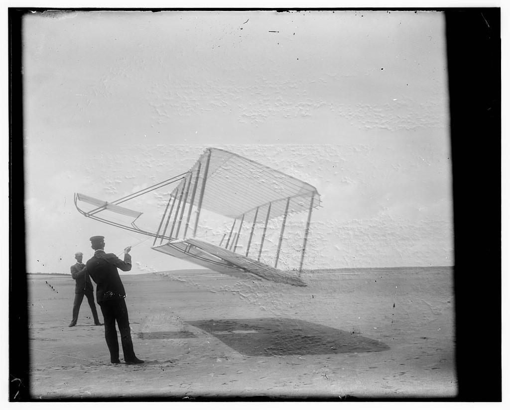 First Wright Brothers Flight in read the epic newspaper correction on the wright brothers' first