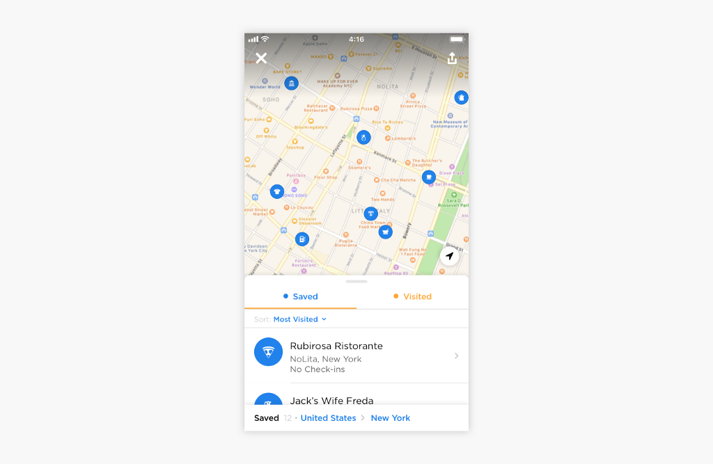 screenshot of map in Swarm 6.0