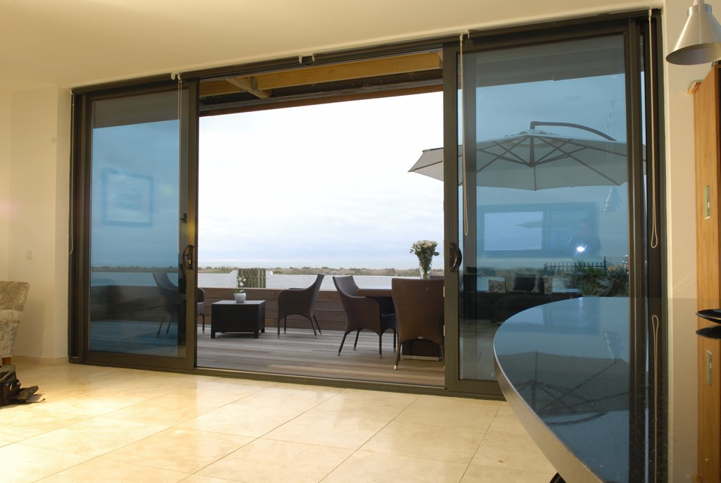A Big Sliding Glass Door Can Be A Chic Addition To Your Home