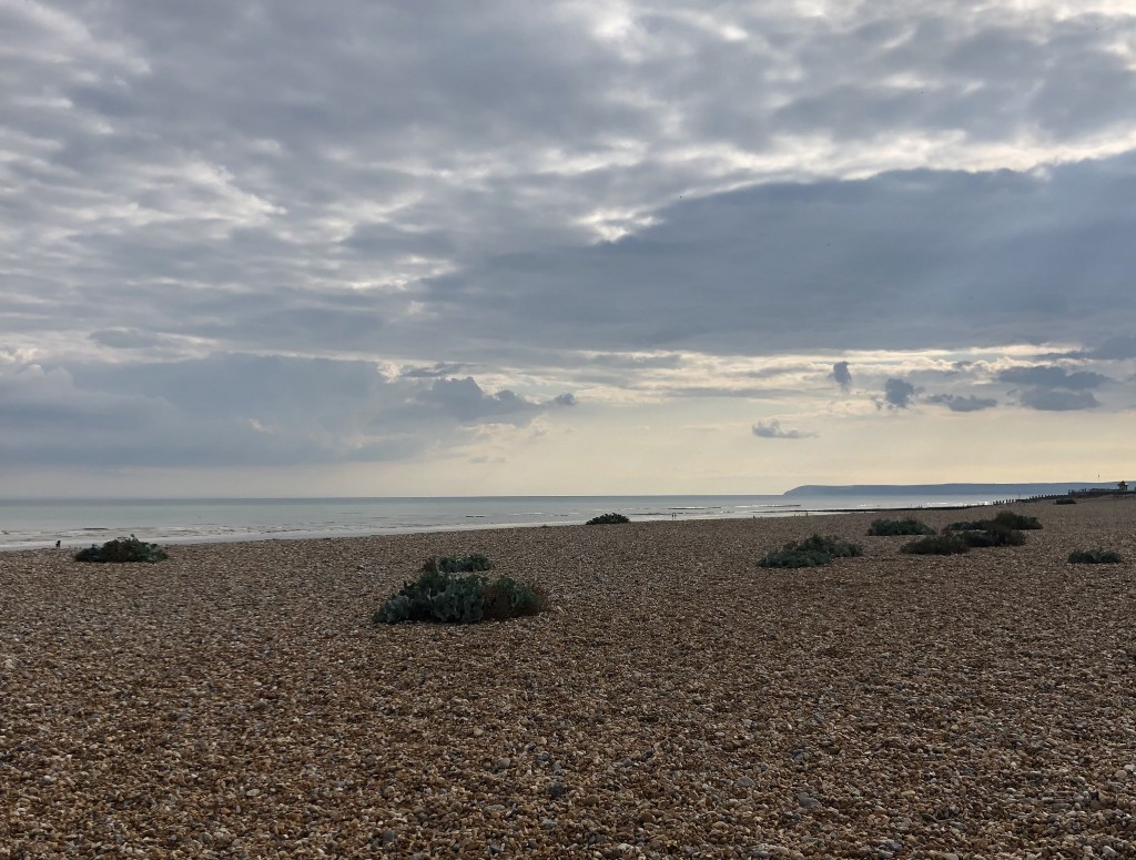 a view out to see from the beach in Bexhill