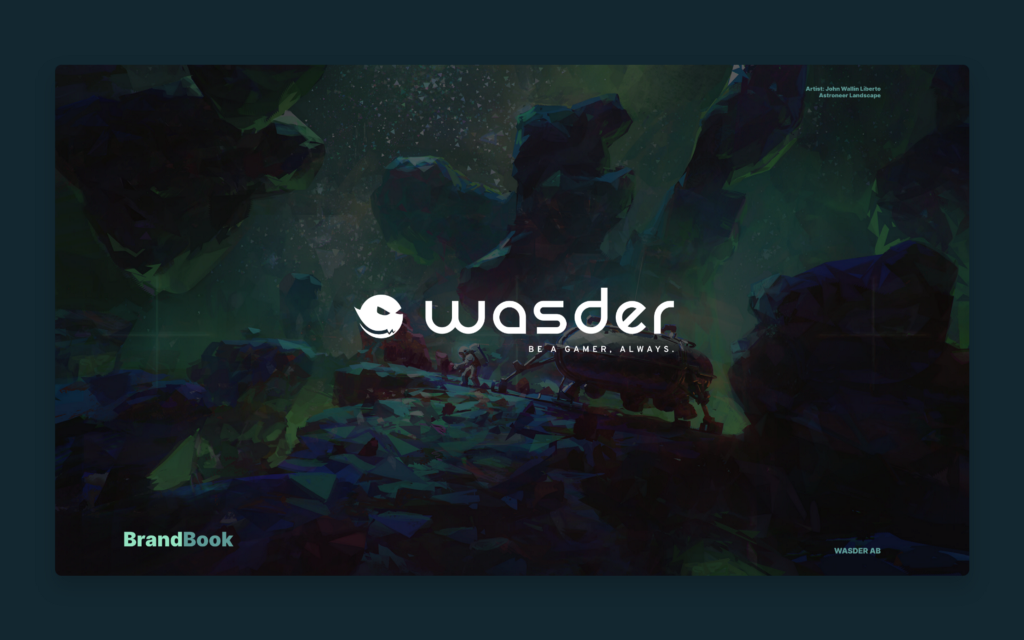 Wasder — Brandbook cover by Black Pug Studio
