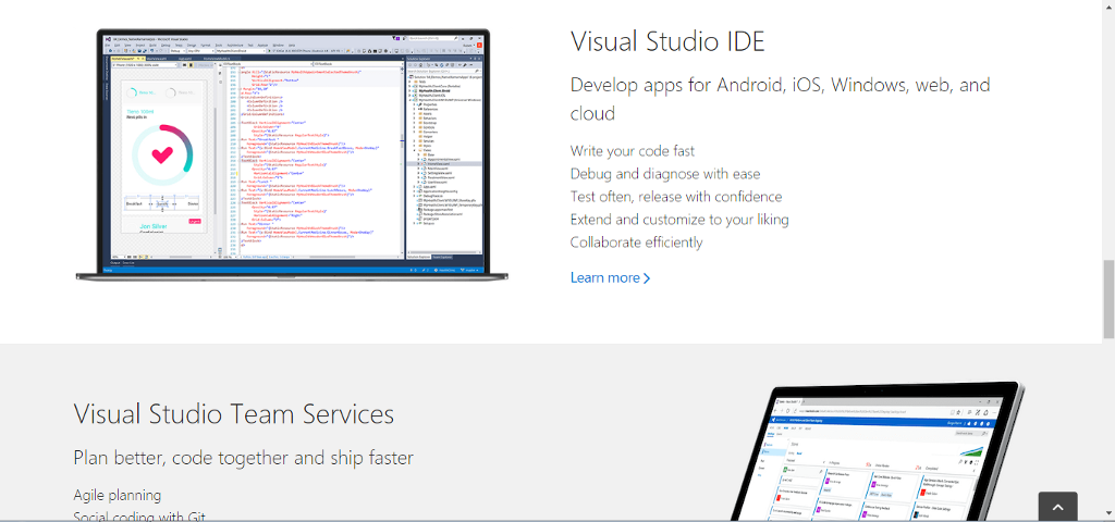 microsofts visual studio line provides top quality tools for a variety of language most notably c