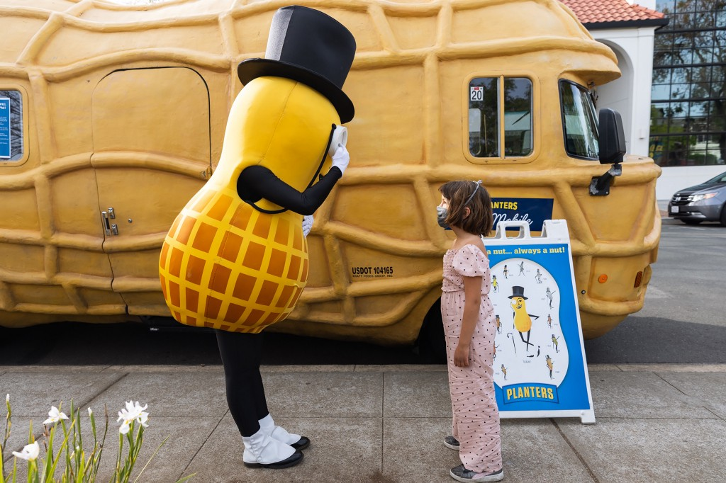 Mr. Peanut's chauffeur: How a Los Altos local crossed the country in a fiberglass nut