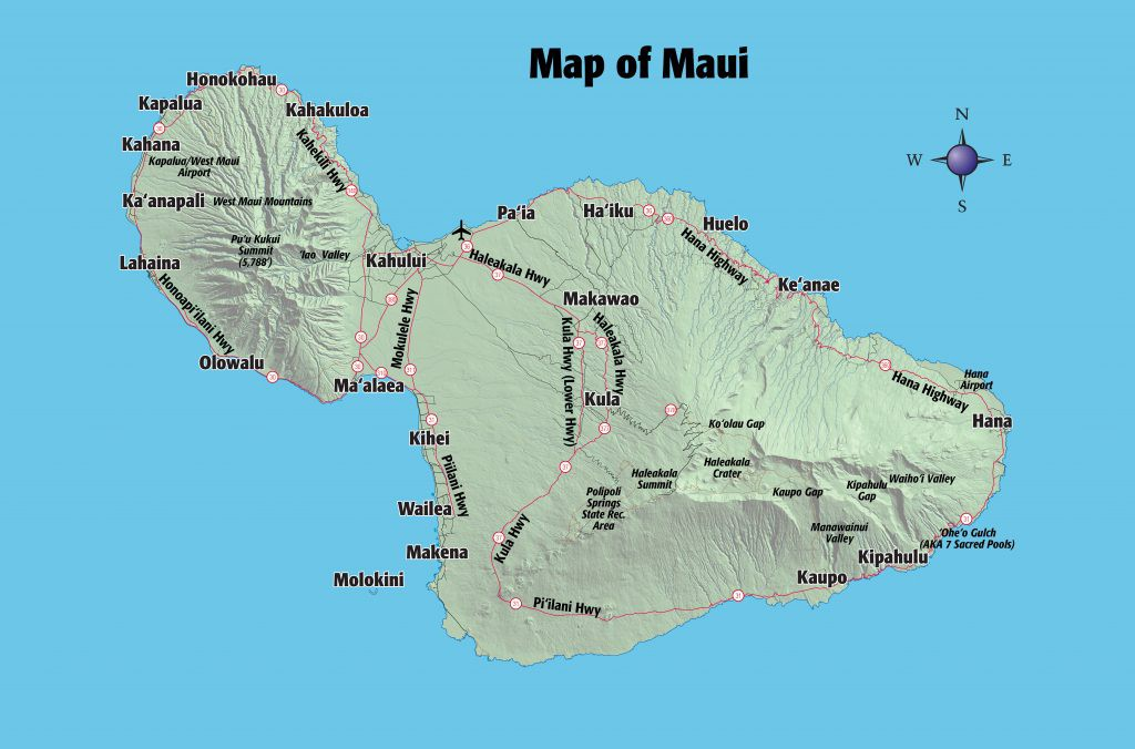Airports In Maui Hawaii Map.Map Of Maui Maui Island Hawaii Revealed Medium