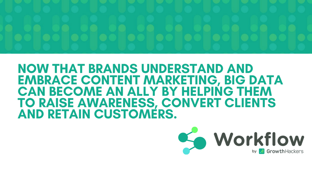 Big Data can become an ally by helping brands them to raise awareness, convert clients and retain customers.