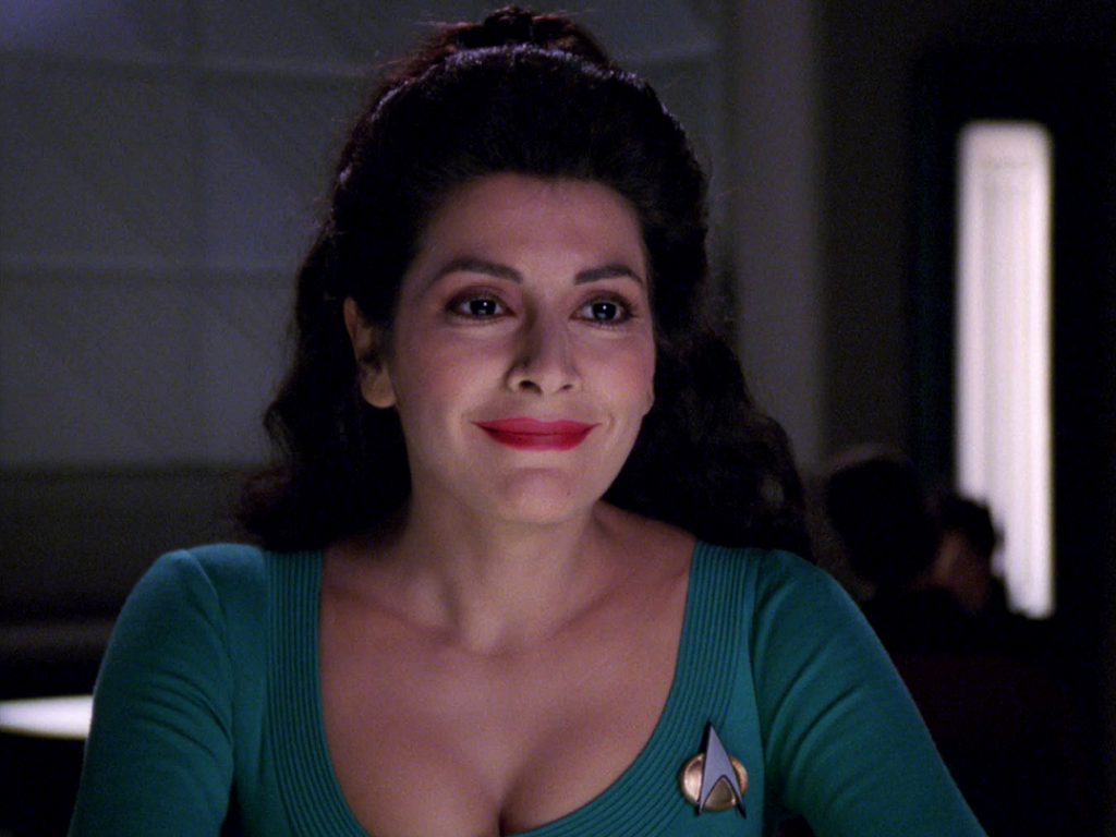 To celebrate the birthday of Marina Sirtis, I'm counting down my favorite  moments with Deanna Troi in the Star Trek universe.