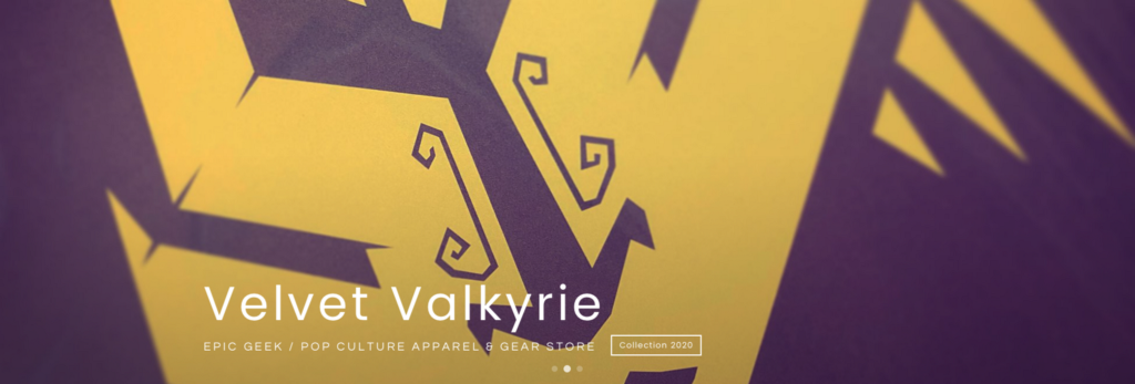 Velvet Valkyrie — GEEK & POP CULTURE APPAREL & GEAR STORE