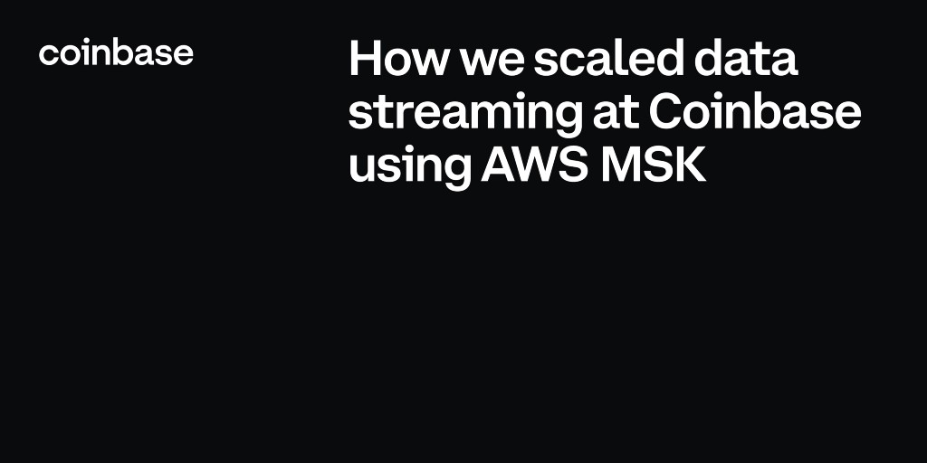 How we scaled data streaming at Coinbase using AWS MSKCryptocurrency Trading Signals, Strategies & Templates | DexStrats
