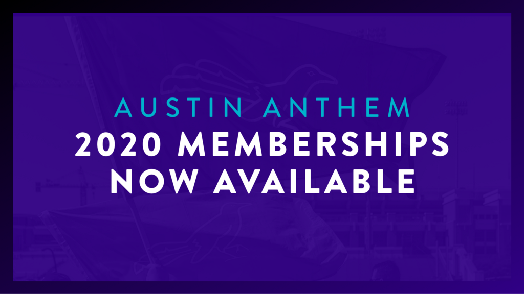 Austin Anthem 2020 Memberships Now Available