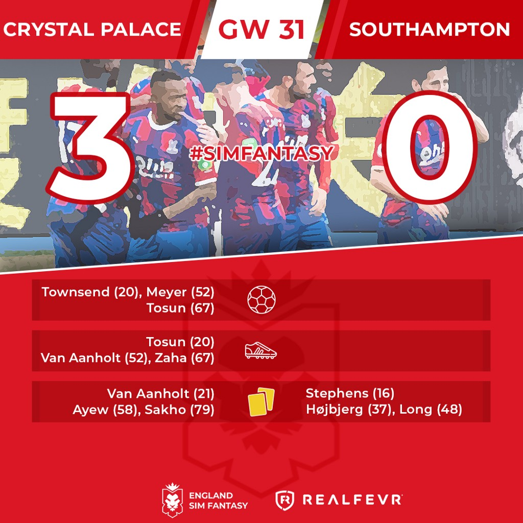 England Sim Fantasy: the Results of Gameweek 31