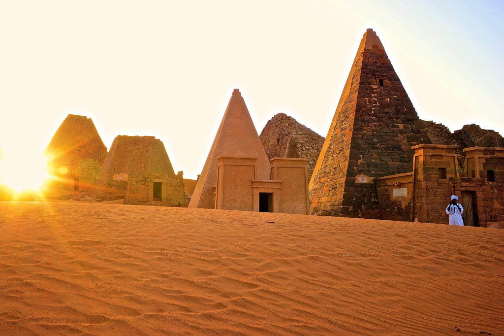 The pyramids of Meroë in modern Sudan