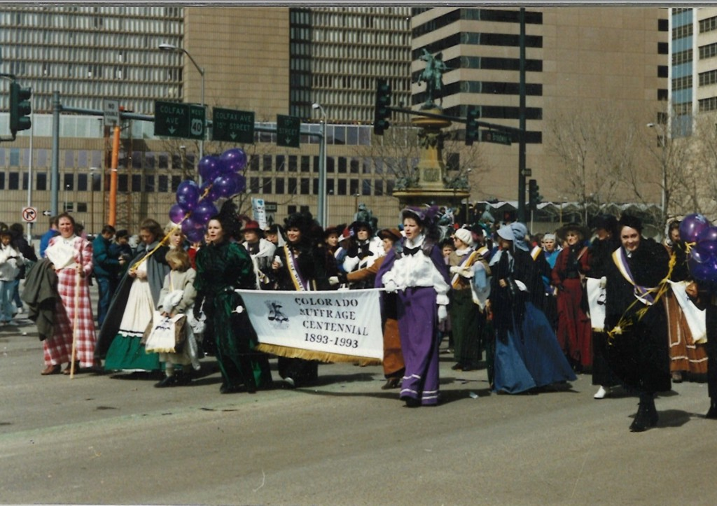 Parade celebrating 100 years of Women's Suffrage in Colorado