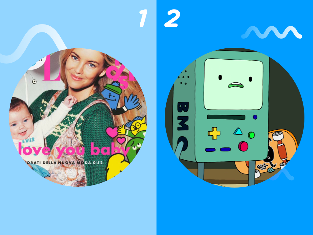 1: Elle Japan 2: BMO from Adventure Time