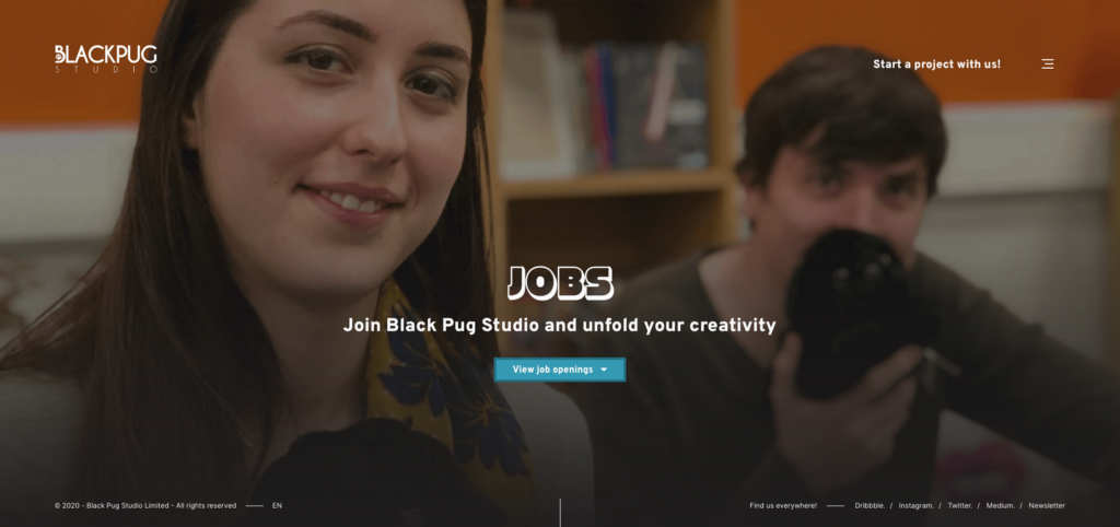 Black Pug Studio — Job opportunities