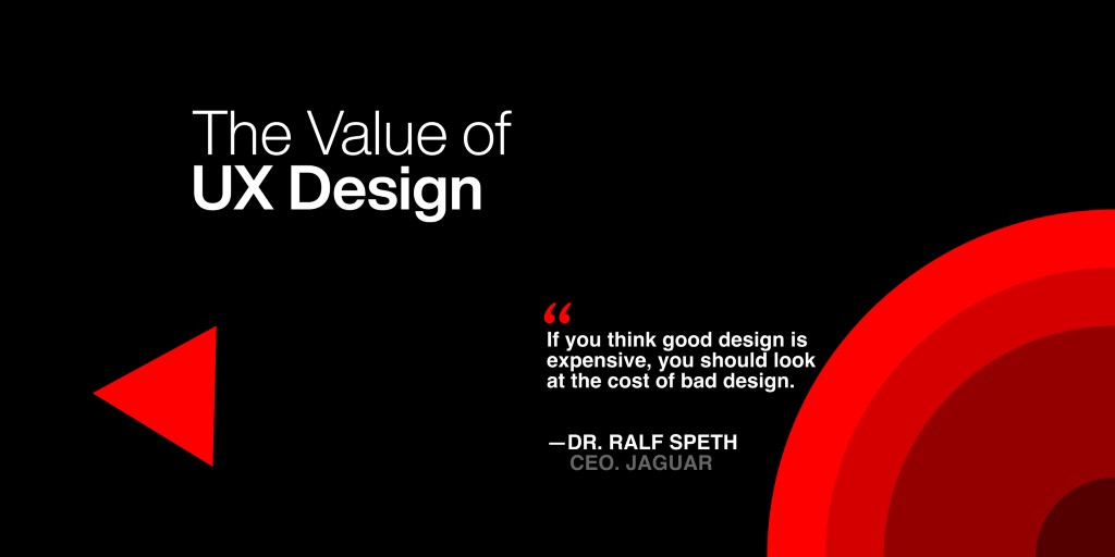 Cover Image with a quote—If you think good design is expensive, you should look at the cost of bad design.byRALF SPETH