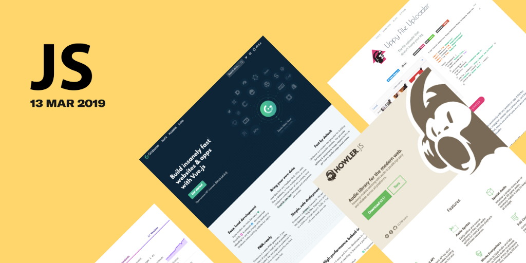 34 most popular GitHub JS repositories in March'19