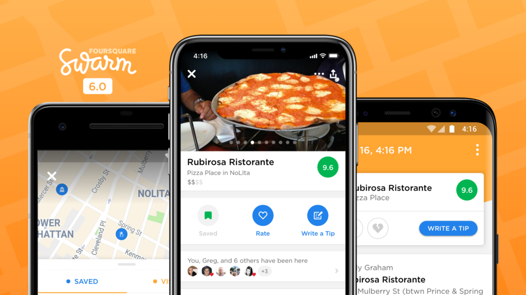 Foursquare's release of Swarm 6.0
