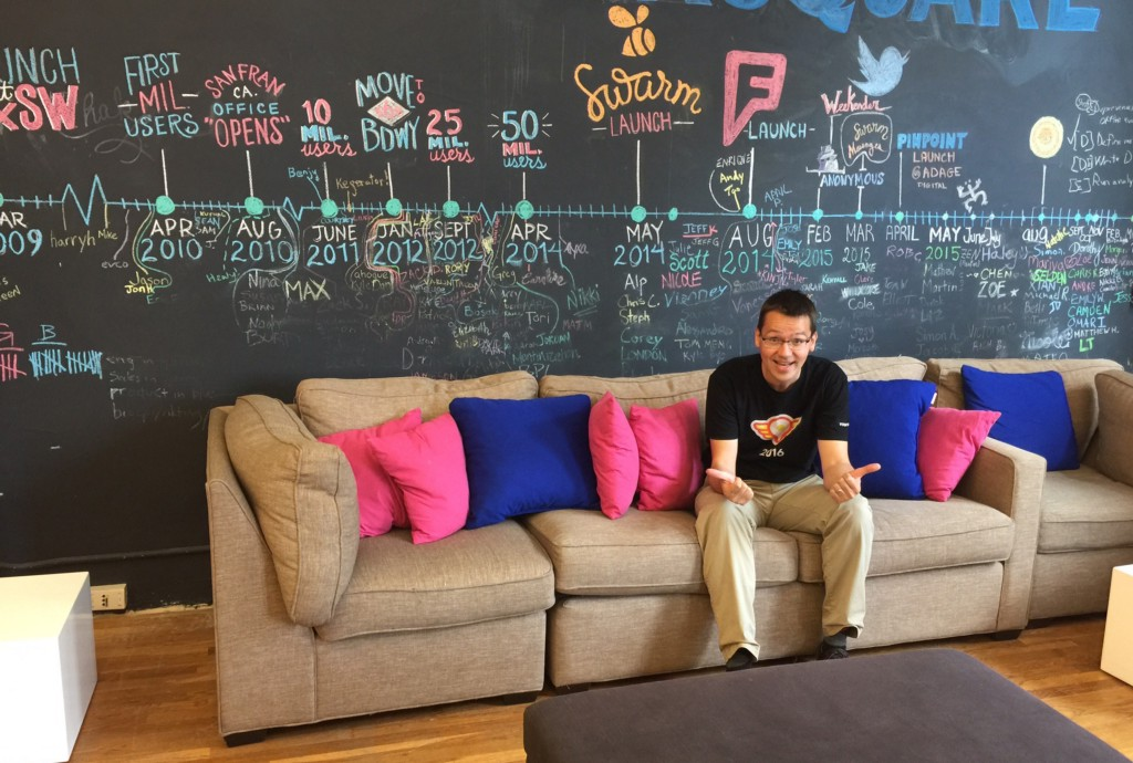 Steffen visiting Foursquare HQ in New York City