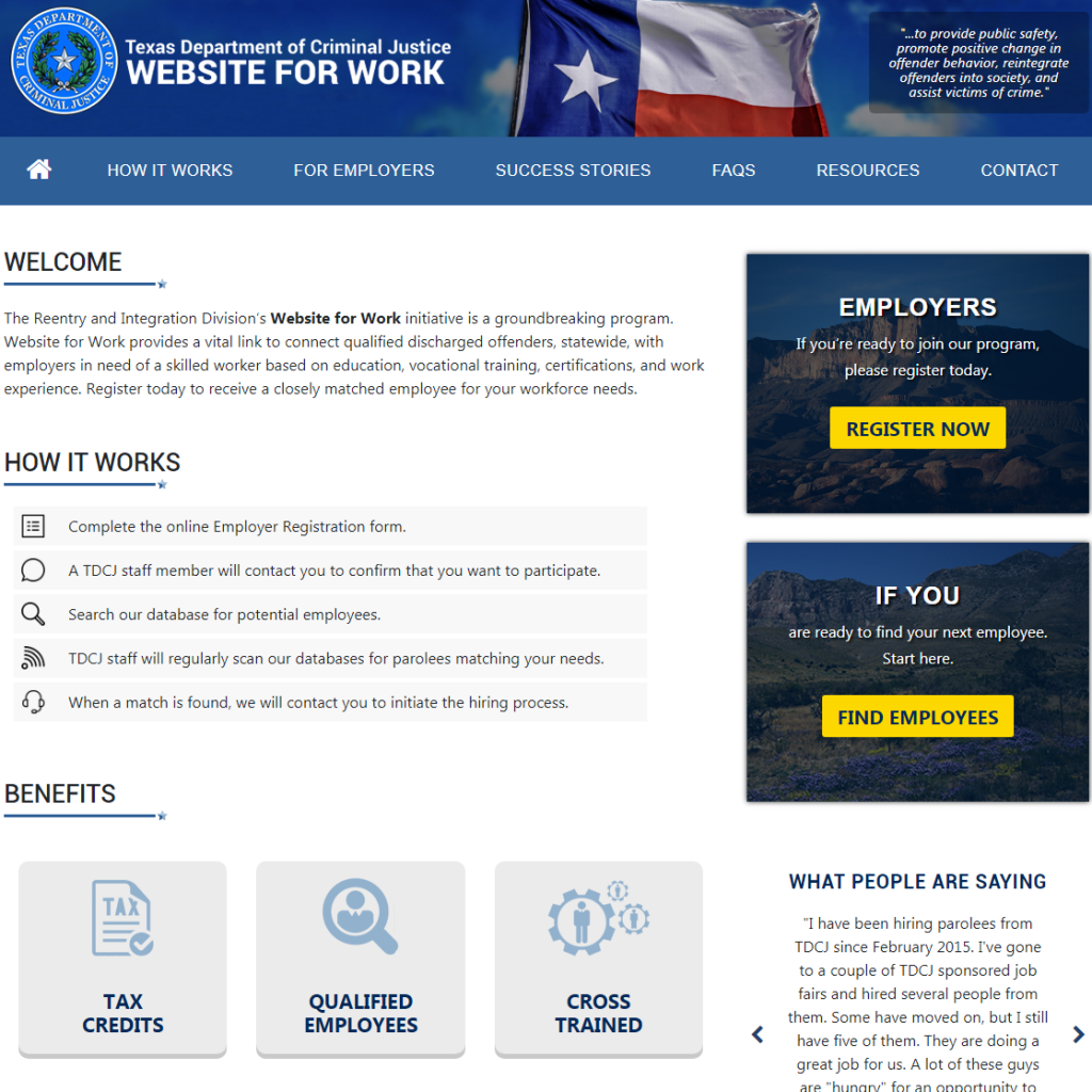 webhead is proud to be part of the texas department of criminal justice latest online web application launch the reentry and integration divisions website