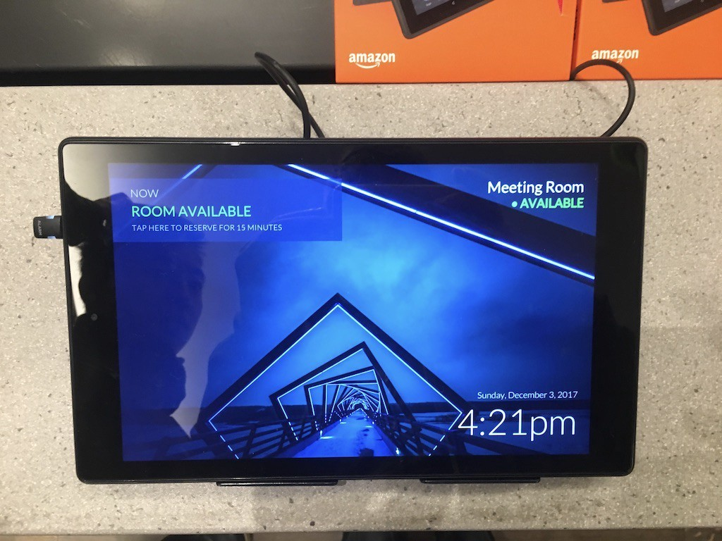 how to use the amazon fire tablet as an office 365 meeting room