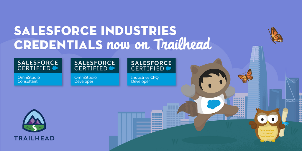 Salesforce Industries Credentials Now Available on Trailhead