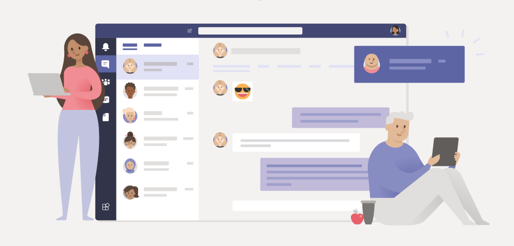 Get Microsoft Teams to collaborate with your team as you work from home