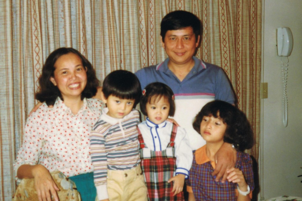 Dr. Kieu as a child with her family