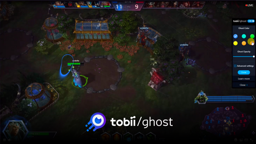 Stream with Tobii Ghost, the First Eye Tracking Twitch Extension
