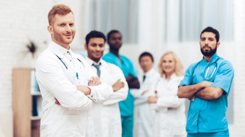 Medical staff happy working with Artificial Intelligence