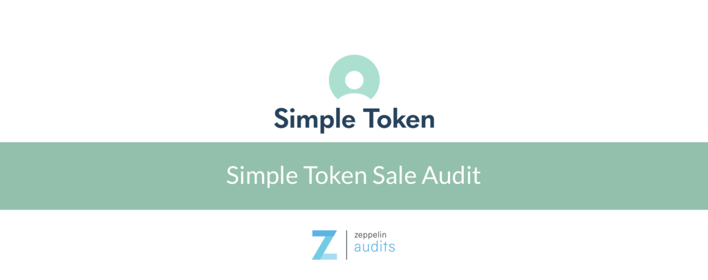 The Cryptocurrency News Group Simple Token Sale Audit