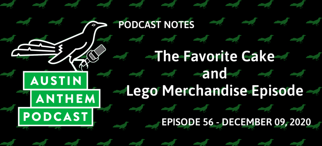Podcast 56: The Favorite Cake and Lego Merchandise Episode