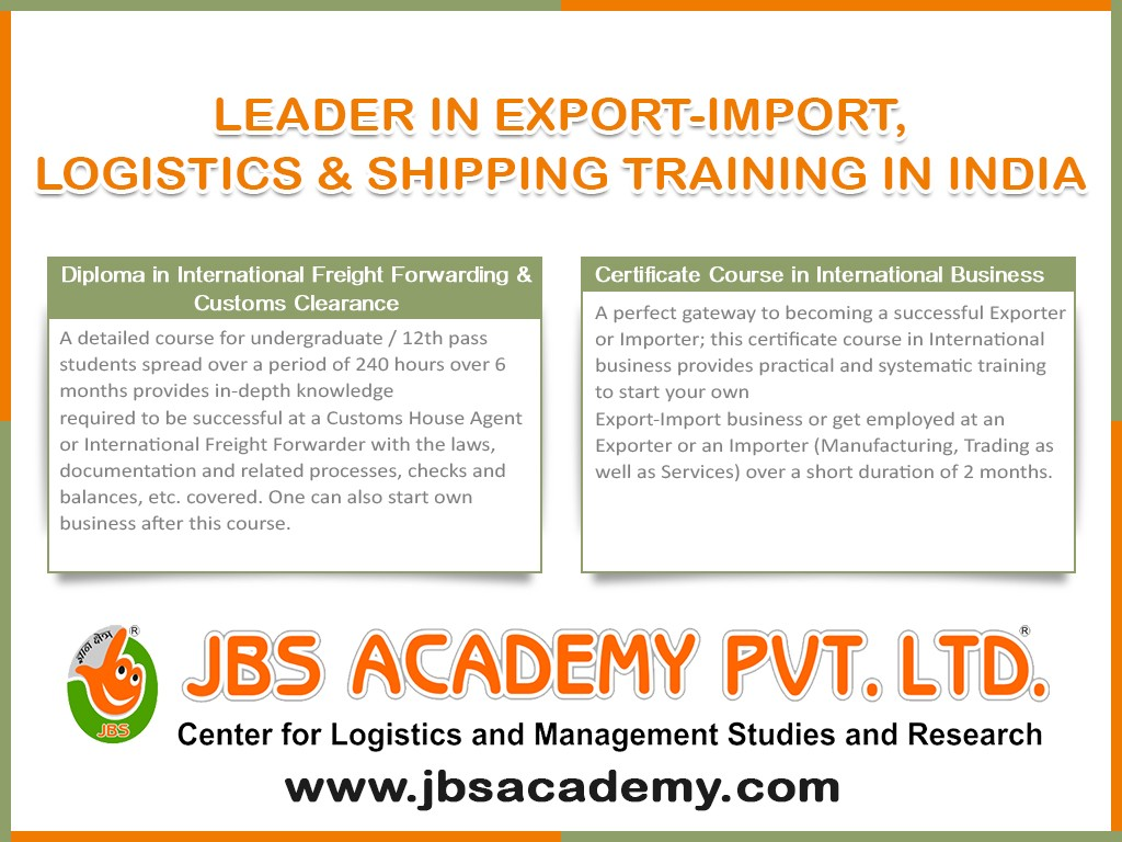 Certificate Course In Customs Clearance International Freight