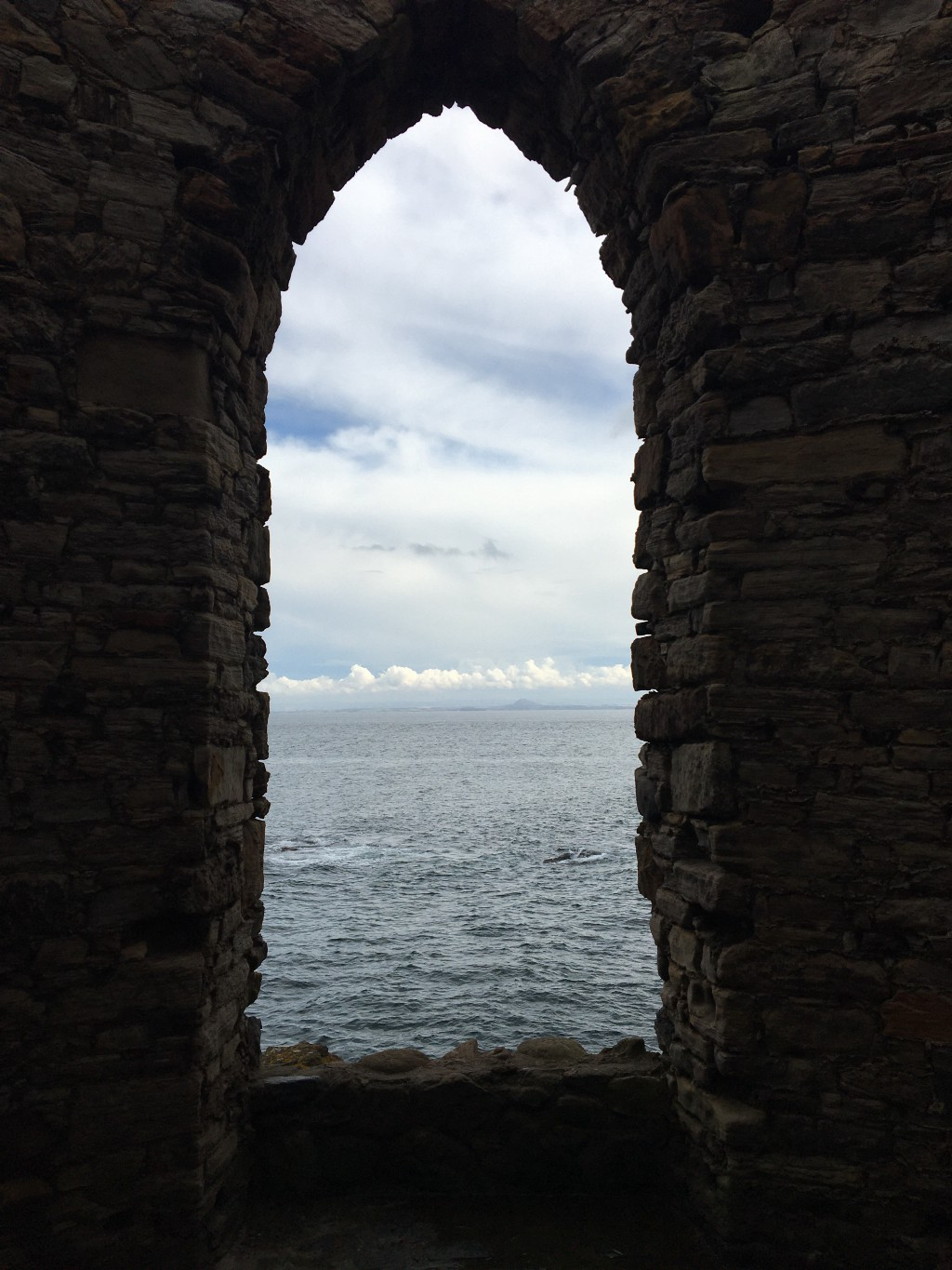 An ancient window, looking out to the sea