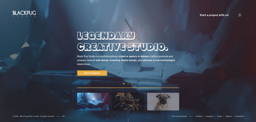 Black Pug Studio | Web Design Creative Agency Homepage