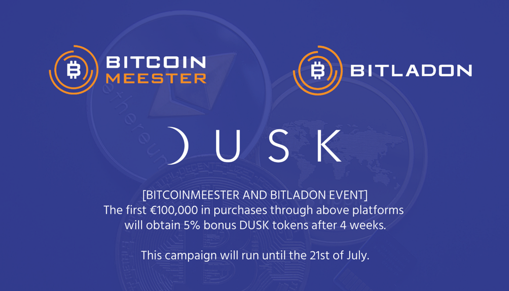 BitcoinMeester (NL) and Bitladon (EU) integrate DUSK.