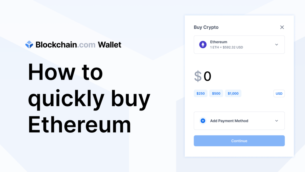 How to quickly buy Ethereum