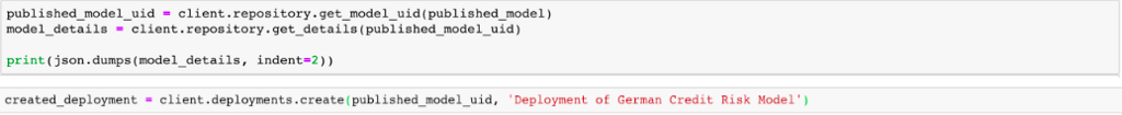 Fetching the model UID