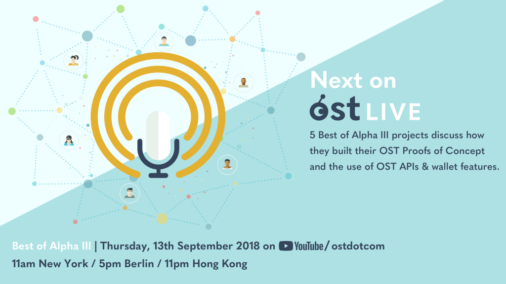 Best of Alpha III To Discuss Use of OST API's & Wallet